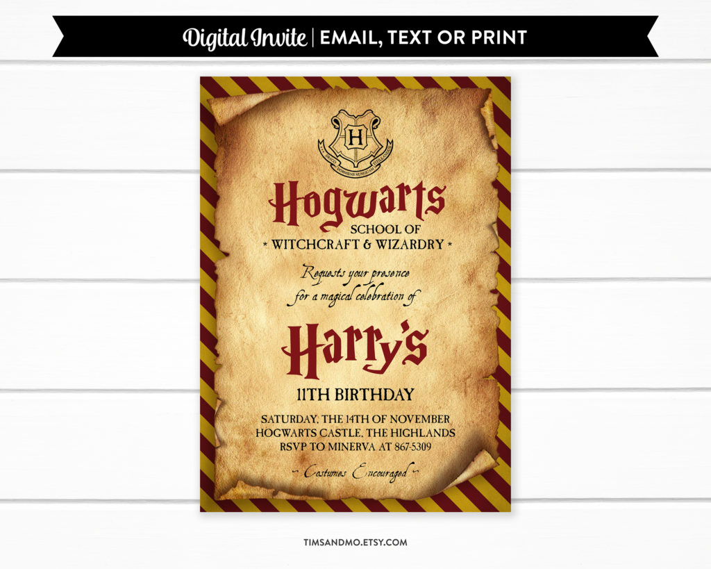 kids birthday party invitations tims