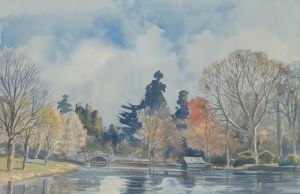 Weston Park Lake and Boathouse, Shrops wc30x47
