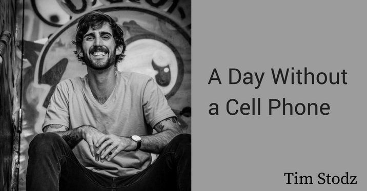 a day without a cell phone