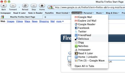Firefox startup folder