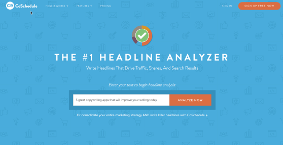 Coschedule headline analyzer copywriting app.