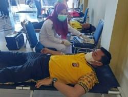 Sambut Hut Bhayangkara ke 75, Polres Kolaka Utara Gelar Donor Darah