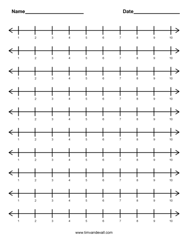 number line 1 to 10