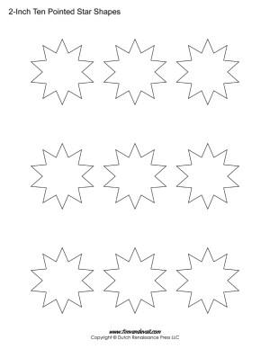10 sided stars