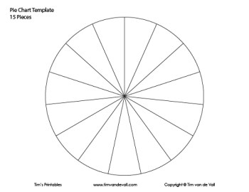 15 piece pie chart template
