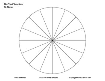 16 piece pie chart template