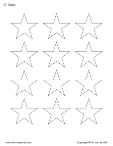 free printable star templates pdf bundle black white tim s