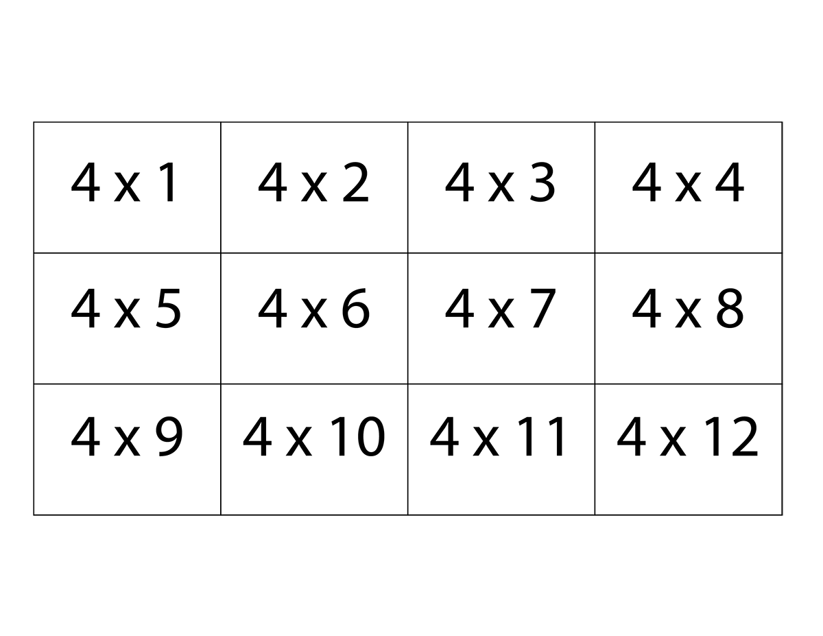Free Printable Multiplication Flash Cards For Kids