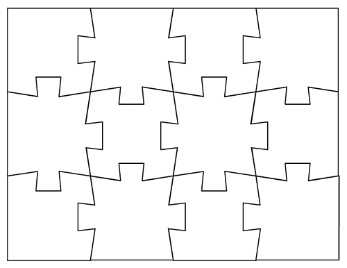 This is an image of Make Your Own Jigsaw Puzzle Printable for word