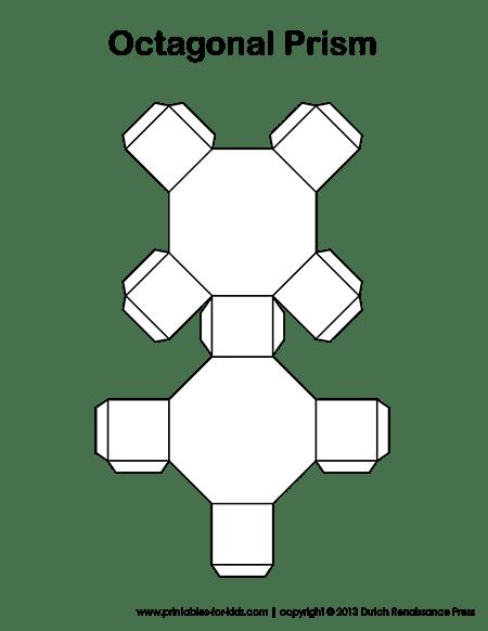 Octagonal Prisms: Paper Models, Surface Area, Volume