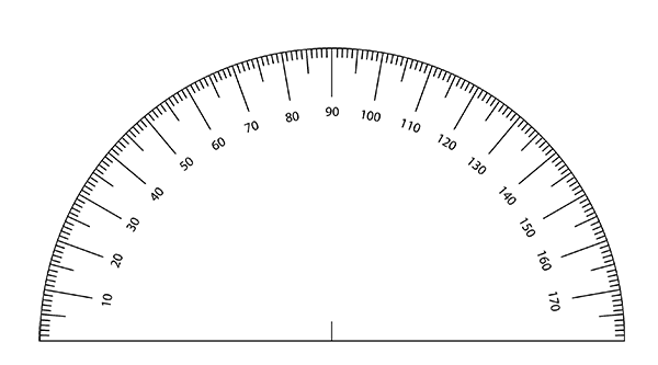 It's just a photo of Small Printable Protractor in high resolution