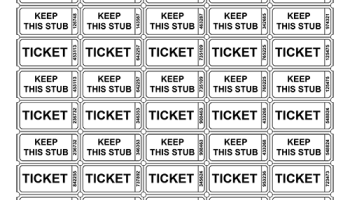 raffle ticket templates tim s printables