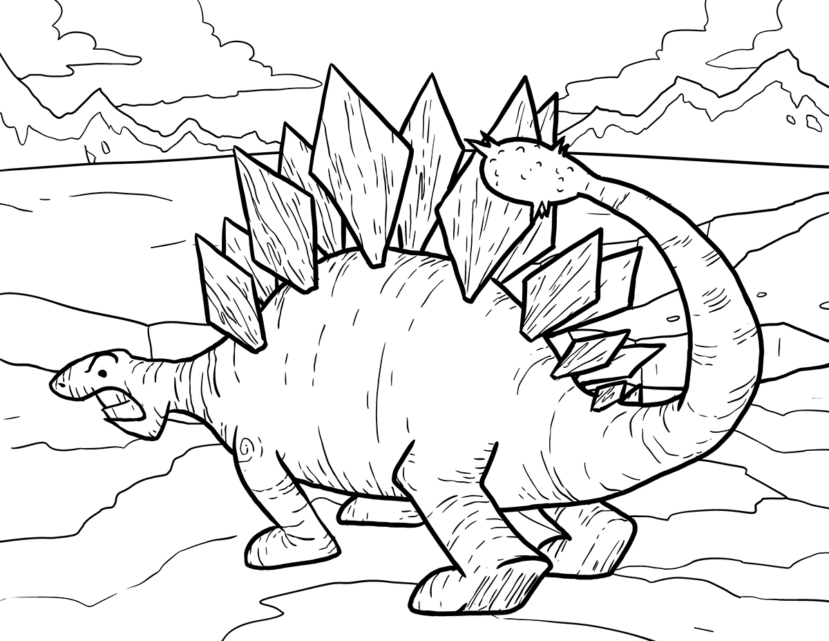 T Rex Dinosaurs Coloring Pages