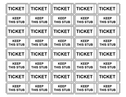 Entrance Ticket Template entry ticket template sample – Sample Event Tickets