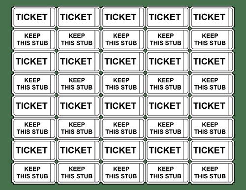 Free Printable Ticket Templates   Free Printable Event Ticket Templates Blank Admission Ticket Pdfs