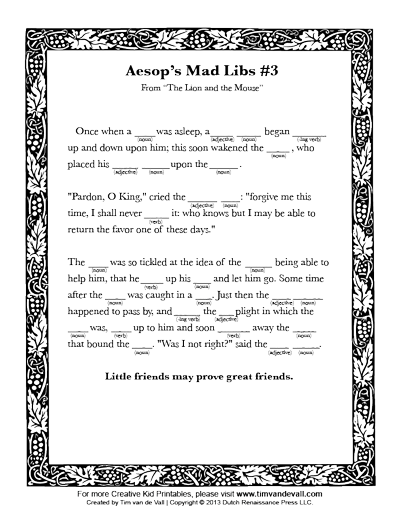 mad libs for kids