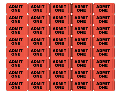 Free Admit One Tickets