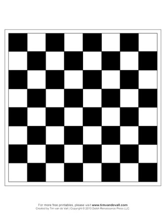 Crazy image within chess board printable