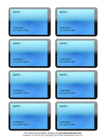printable name tag templates