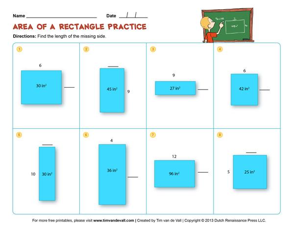 Area and Perimeter Practice