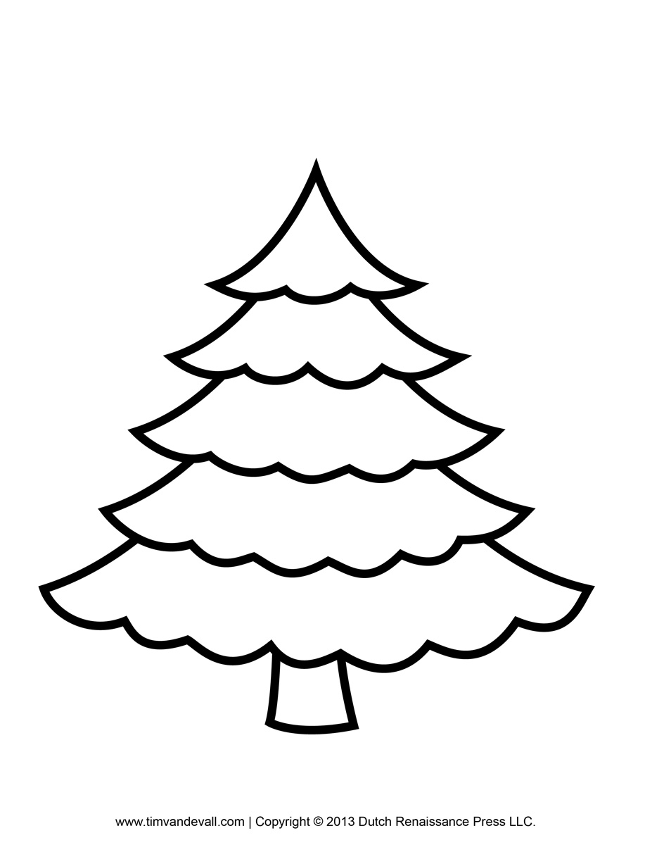 printable paper christmas tree template clip art amp coloring pages