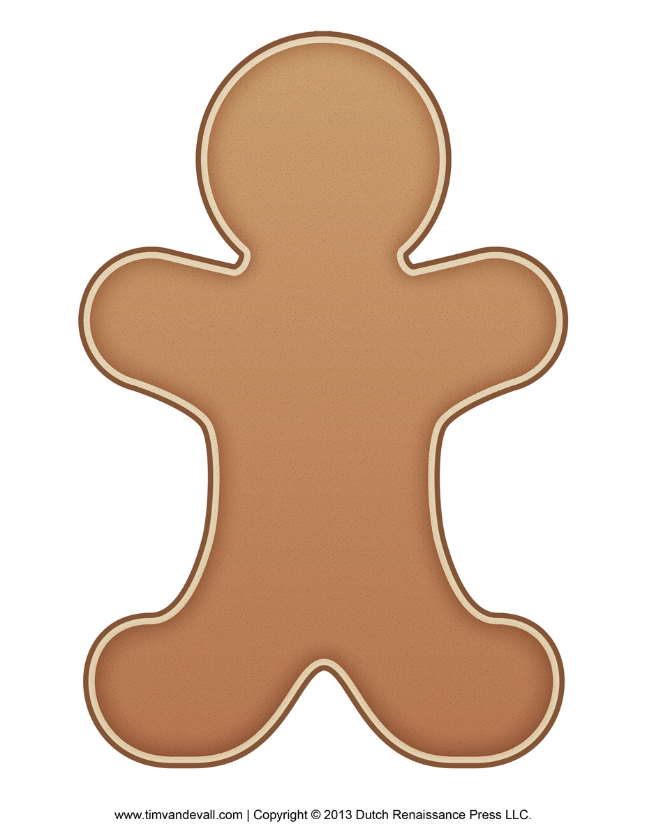 Gingerbread-Man-Template - Tim's Printables