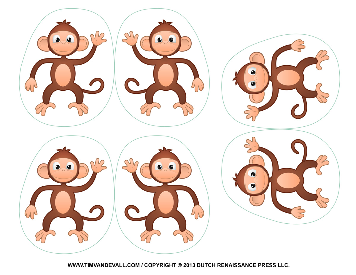 Printable Monkey Clipart Coloring Pages Cartoon Amp Crafts