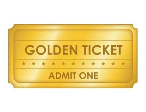 Large Golden Ticket Template