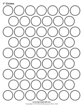 1-inch Circle Template