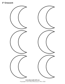 Printable Crescent Templates