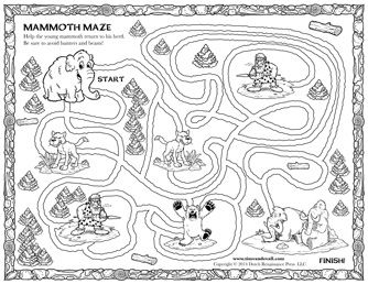 blank maze for kids