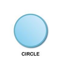 Circle Geometric Shape Templates