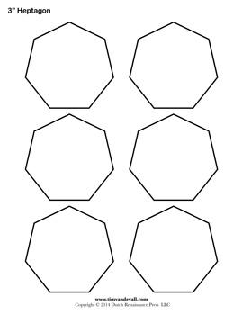 Printable Heptagon Templates