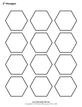 Printable Hexagon Outline