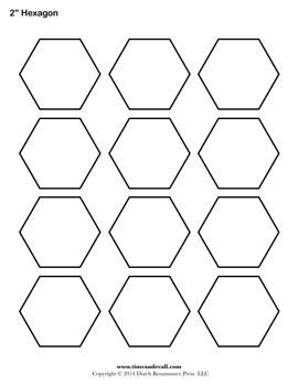 blank hexagon templates printable hexagon shape pdfs