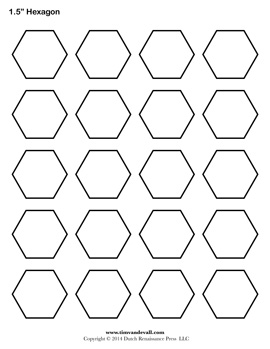 Hexagon Shape Template. colorful geometric shapes with cartoon ...