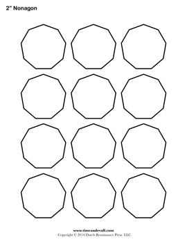 Printable Nonagon Outline