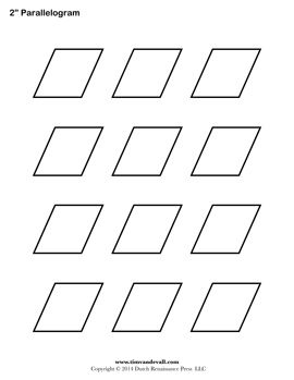 Printable Parallelogram Outline