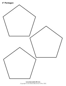Pentagon Template. pentagon template pentagon shape pattern quilt ...
