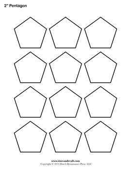 Printable Pentagon Outline