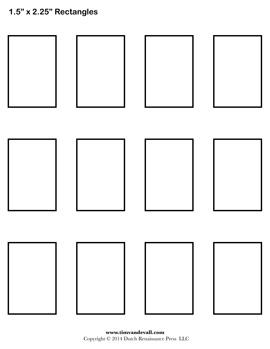 Rectangle template printable