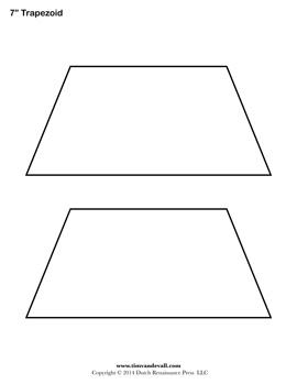 Free Printable Trapezoid