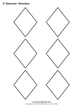Printable Diamond Templates
