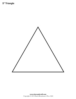 blank triangle stencil