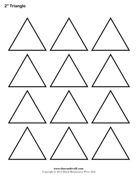 Printable Triangle Outline