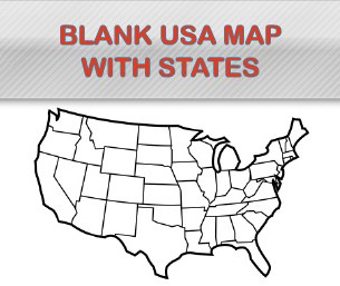 Blank USA Map with States