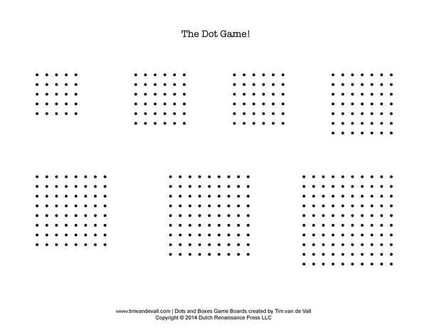 Dots and Boxes Pen and Paper Game