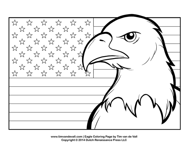 bald eagle coloring page for kids patriotic coloring pages