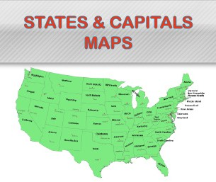 States and Capitals Map