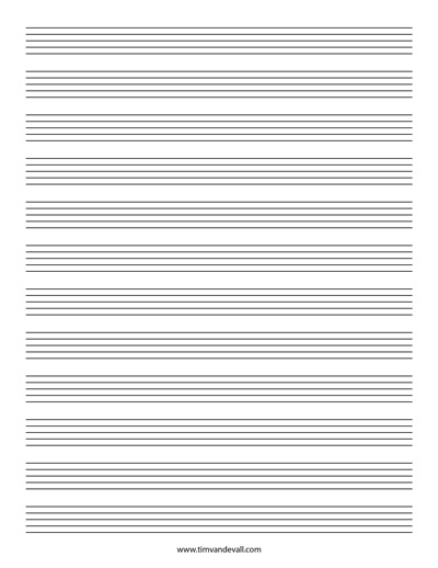 Blank Stave Paper 12 Stave